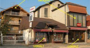 Большой дом с магазинами, произв.помещениями, складом и участком в городе Крушевац